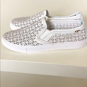 Tory Burch perforated slip on sneaker white size 9